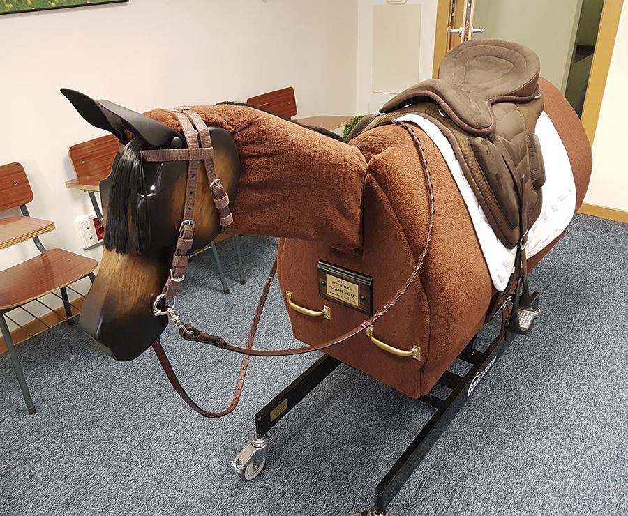 Montar un caballo mecánico favorece la iniciación a la equitación