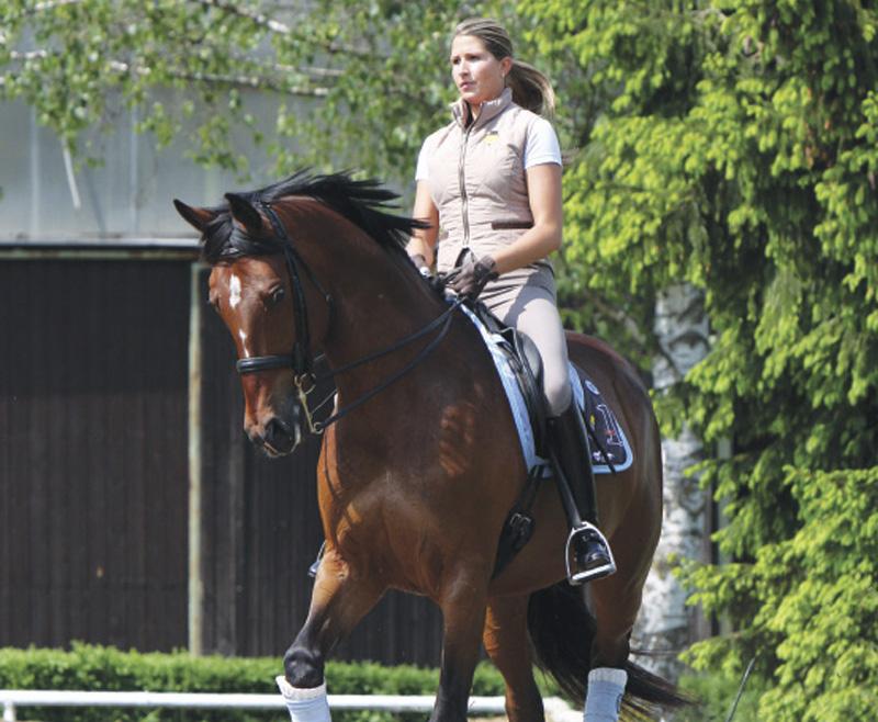 Cómo favorecer la flexibilidad y aumentar la reunión del caballo con la espalda adentro