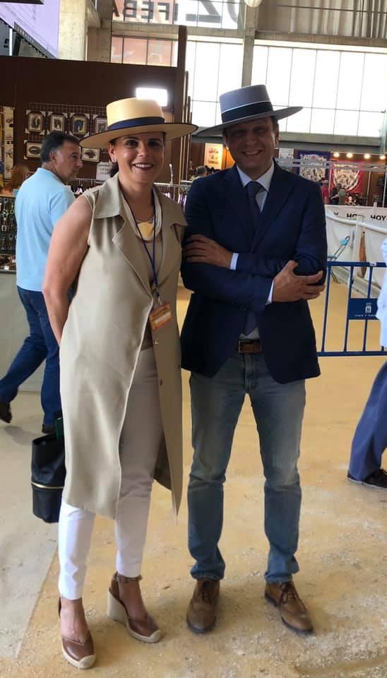 Junto a Claudía Elsner Matos en Badajoz en el Concurso Internacional de Badajoz en 2019