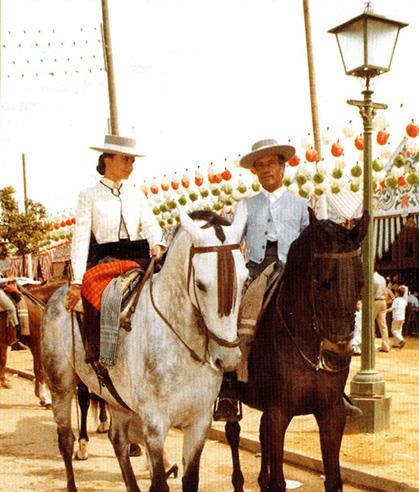 Dos generaciones Jurado, Rocío y Don Rafael, Campeón de España de Doma Vaquera