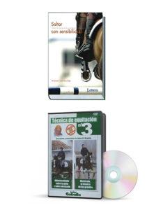 Saltar con sensibilidad + Técnica de Equitación con Jean D'Orgeix. Pack de libro + 3 DVDs